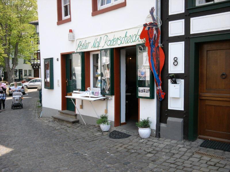 Das Atelier von MAF Räderscheidt am Entenmarkt in Bad Münstereifel
