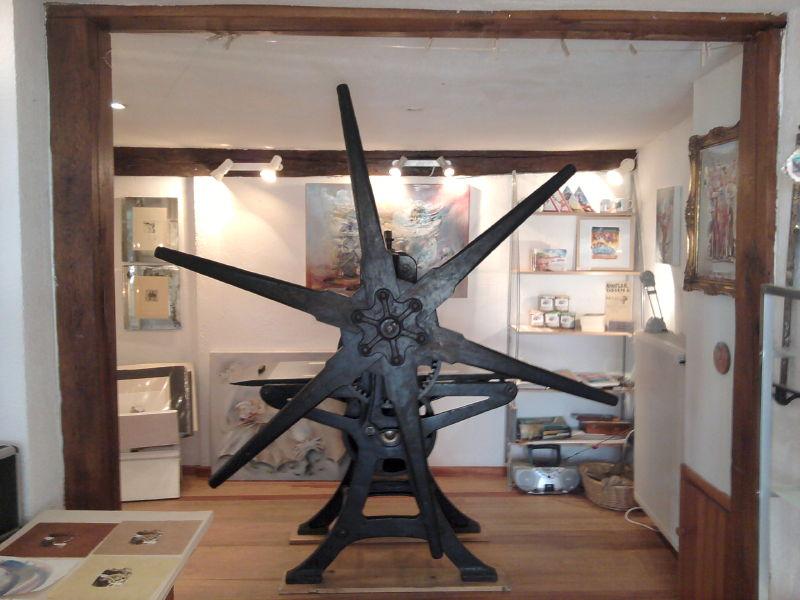 Die Sternenpresse von Martin Kätelhön im Atelier von MAF Räderscheidt am Entenmarkt in Bad Münstereifel