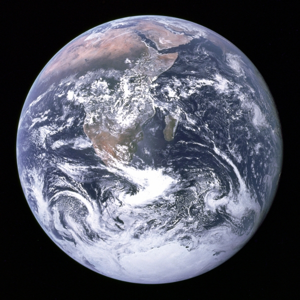 The blue marble seen from Apollo 17 ©NASA
