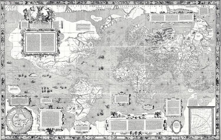 Weltkarte des Gerhard Mercator 1569 Quelle: wikipedia