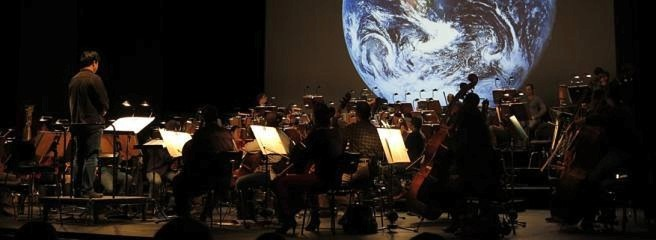 "Orchesterprobe für ""The Pulse of the Planet"""